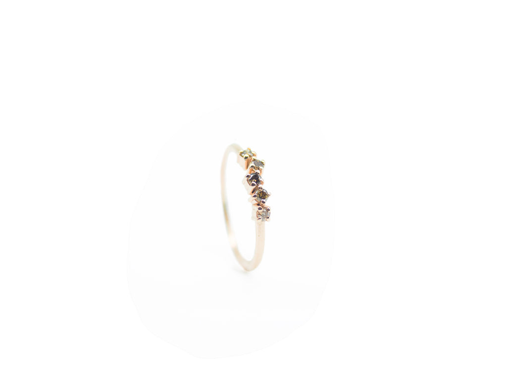 Teeny Tiny Champagne Diamond Ring