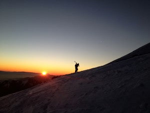 A Hike and Sunset La Parva