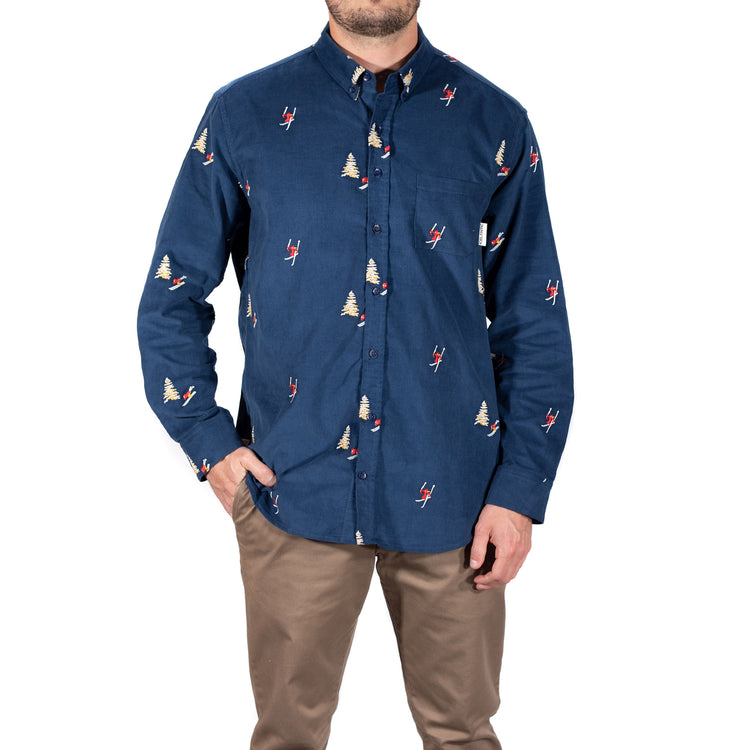 Skier Corduroy Button Up