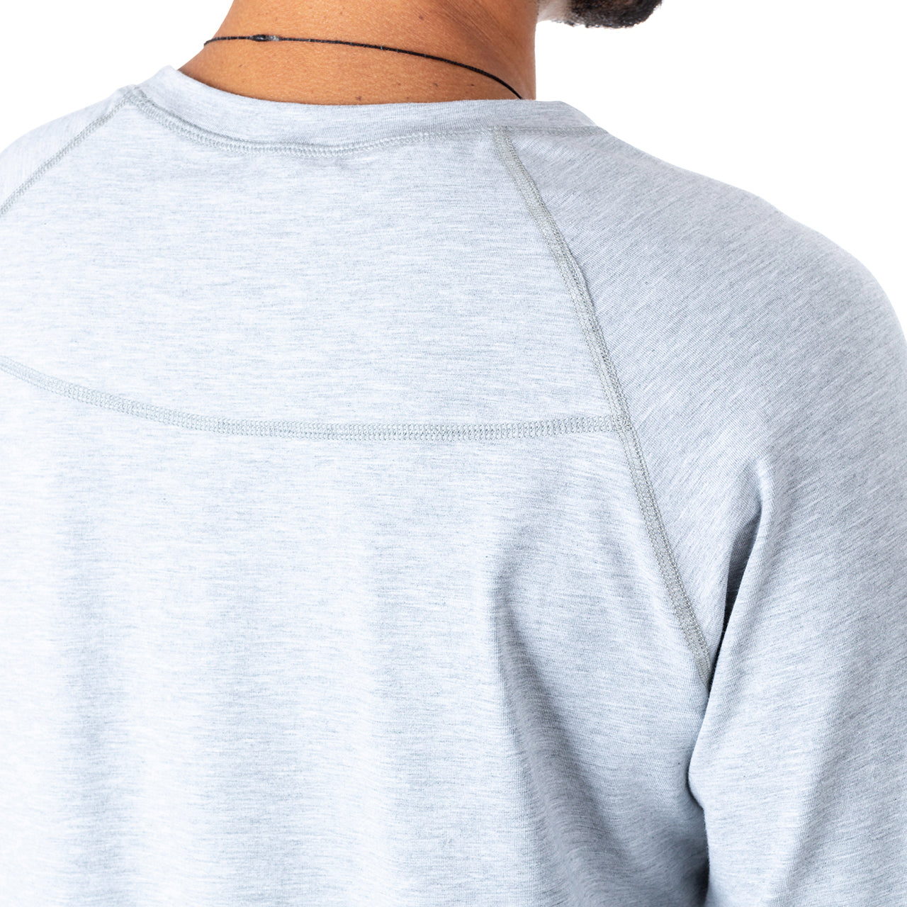 Eco Bamboo Tech LS - Heather Grey