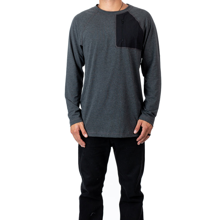 Eco Bamboo Tech LS - Charcoal