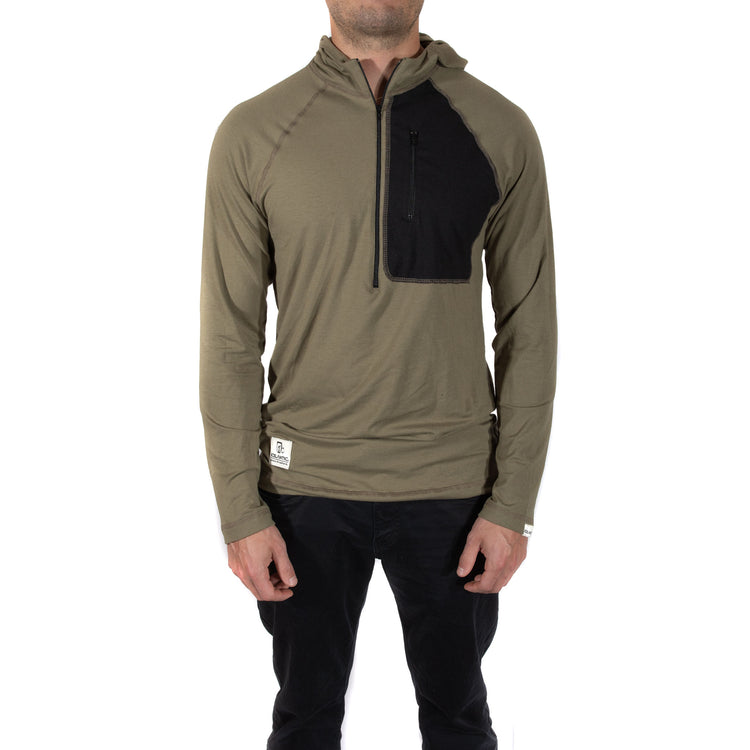 Eco Bamboo Tech Hoodie - Olive