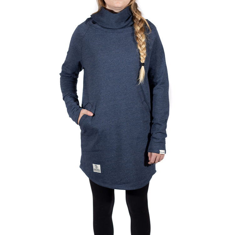 French Terry Pocket Dress - Heather Lake