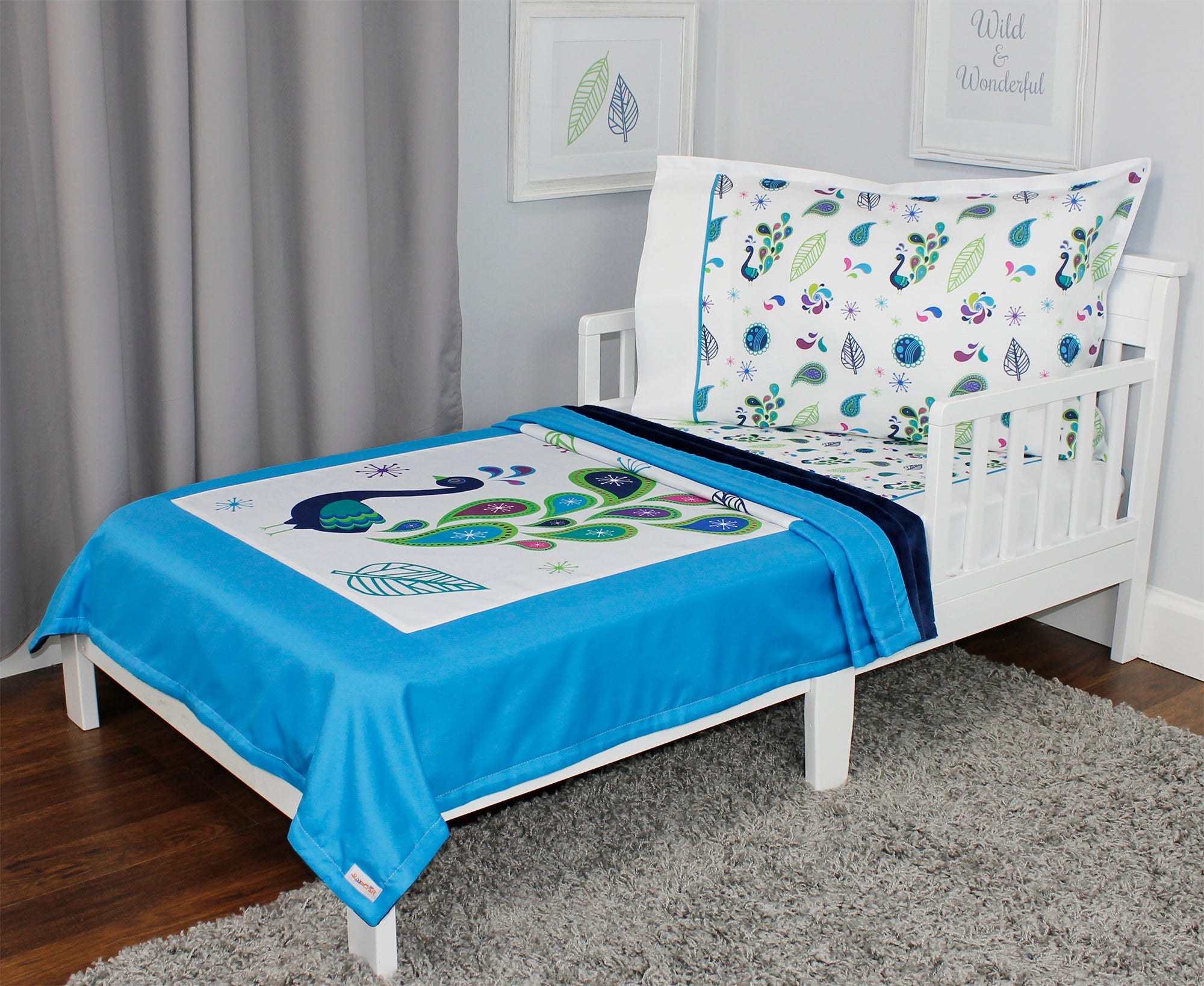 ... Pretty Peacock Toddler Bedding Set ...