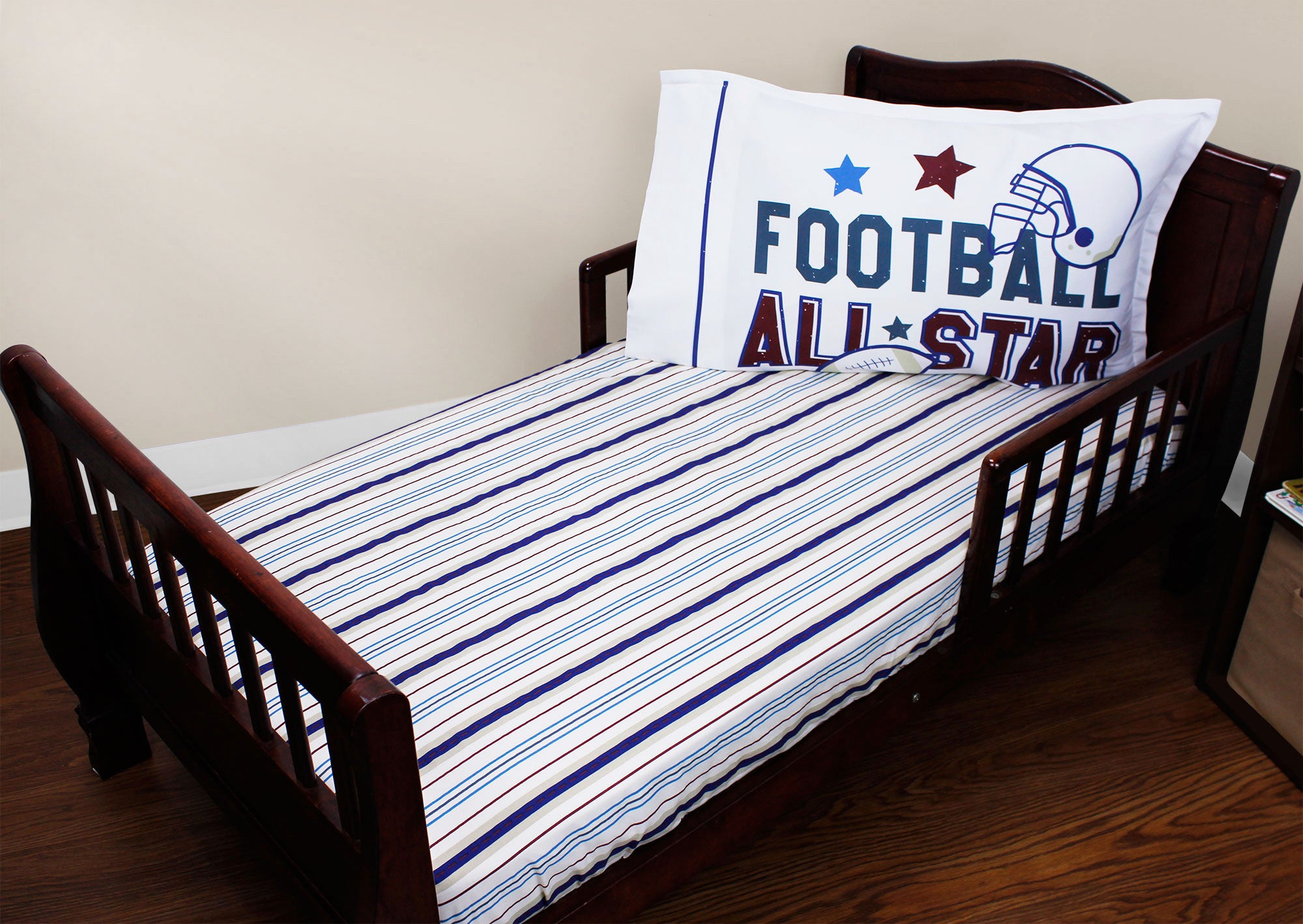 Football Kids Bedding - All Star Sports Toddler Bed Set ...