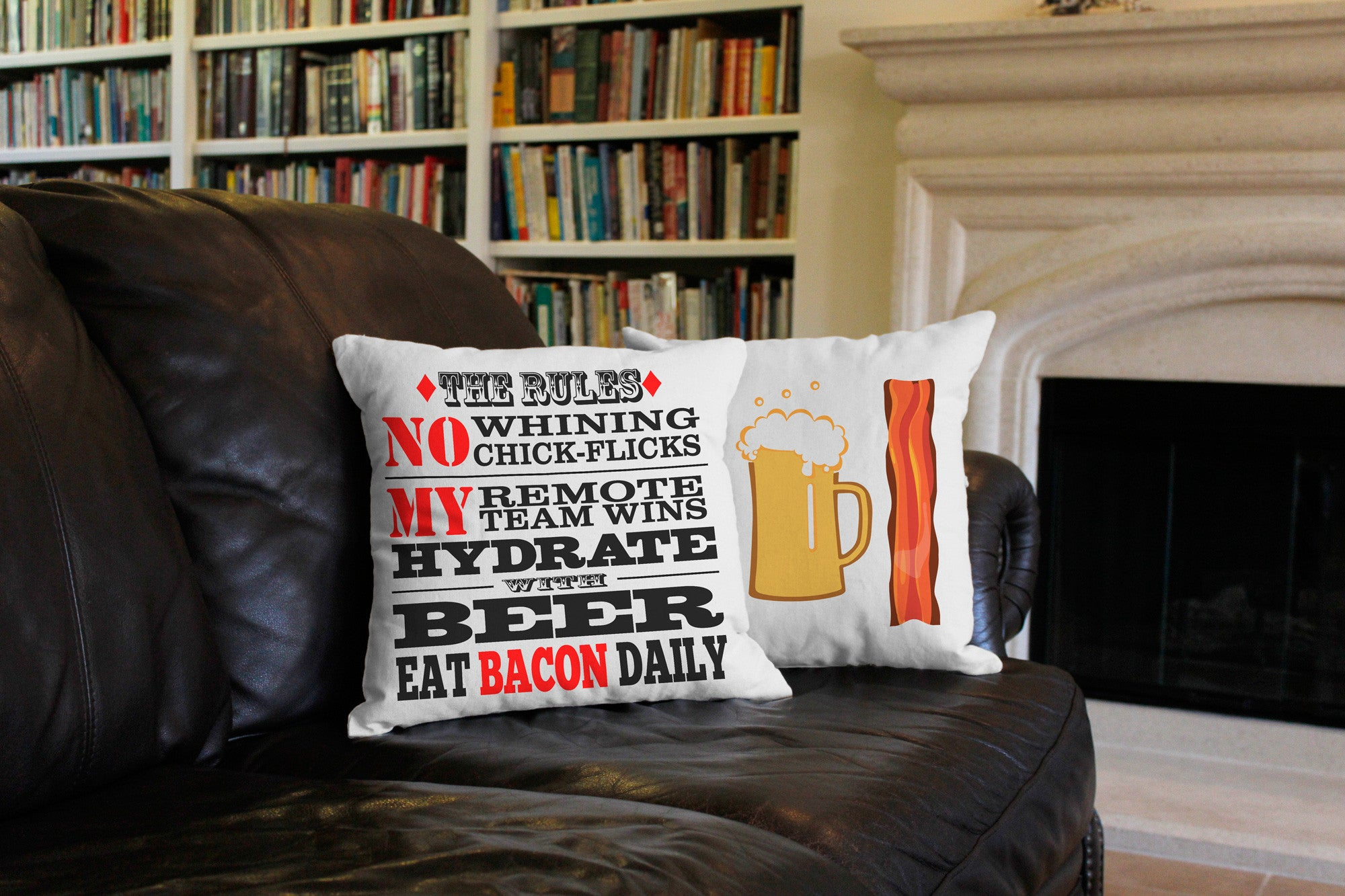 Man Cave Rules : Man cave pillows manly rules fathers day throw roomcraft