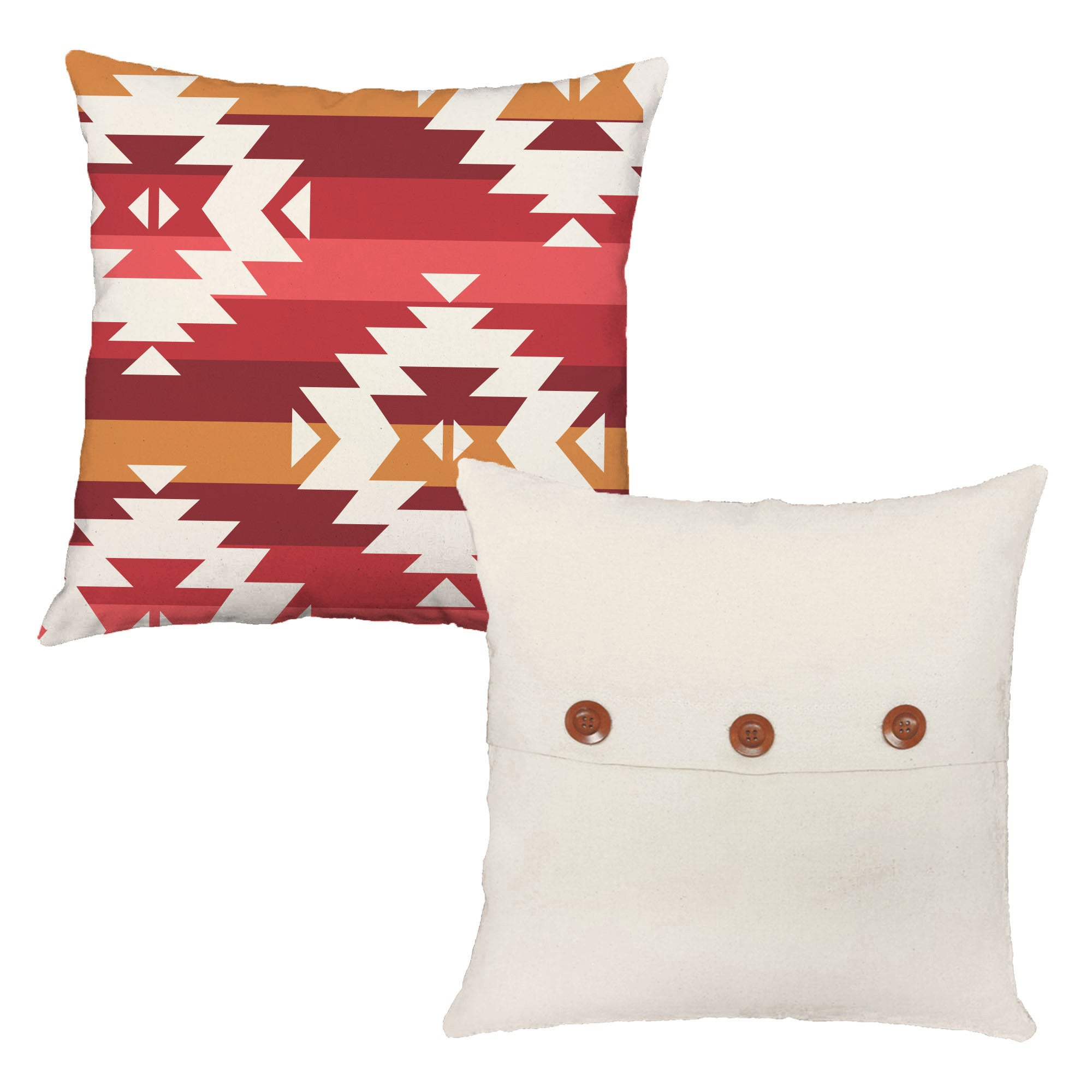 Southwest stripes throw pillows