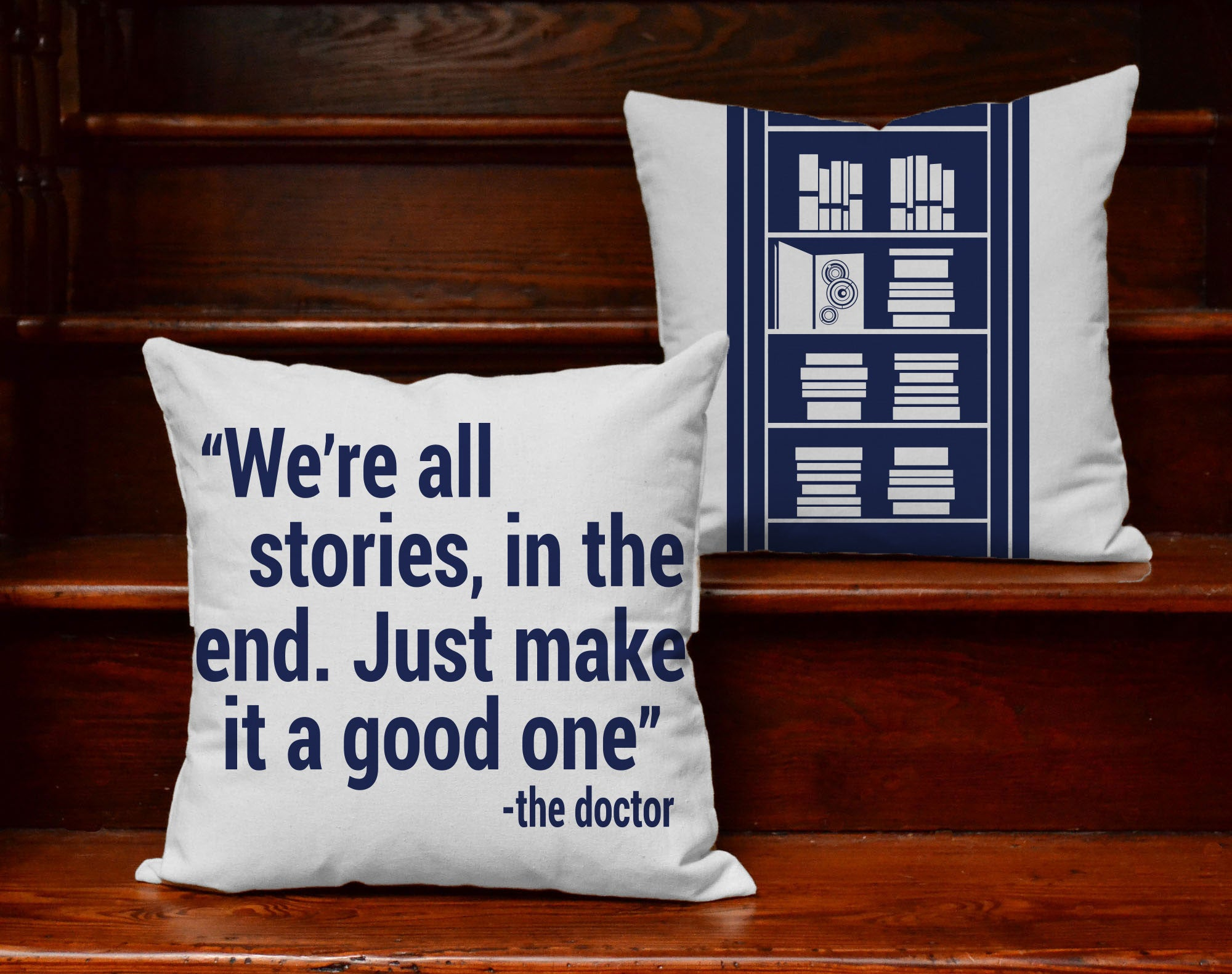 Doctor Quote Accent Pillows All Stories In The End Throw Pillows