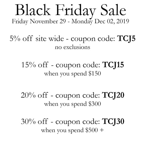 TCJ Black Friday Sale