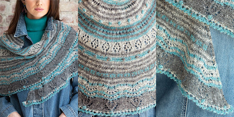 Vogue Knitting Magazine Fall 2018 Lace Stripe Shawl no. 7