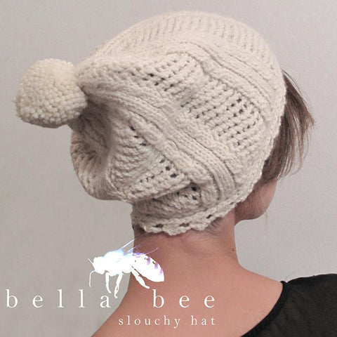 bella bee slouchy hat {knitting pattern}