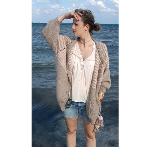 beau cardi {knitting pattern}-knitting pattern-The Crafty Jackalope
