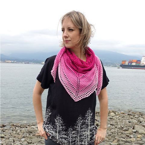color fade shawl {knitting pattern}-knitting pattern-The Crafty Jackalope
