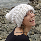 free love slouchy hat {knitting pattern} - The Crafty Jackalope - 2