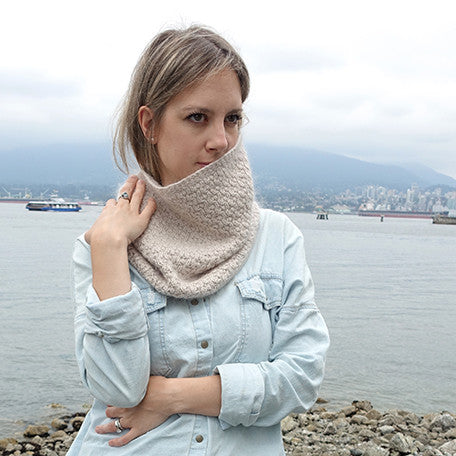 honey stone cowl {knitting pattern}