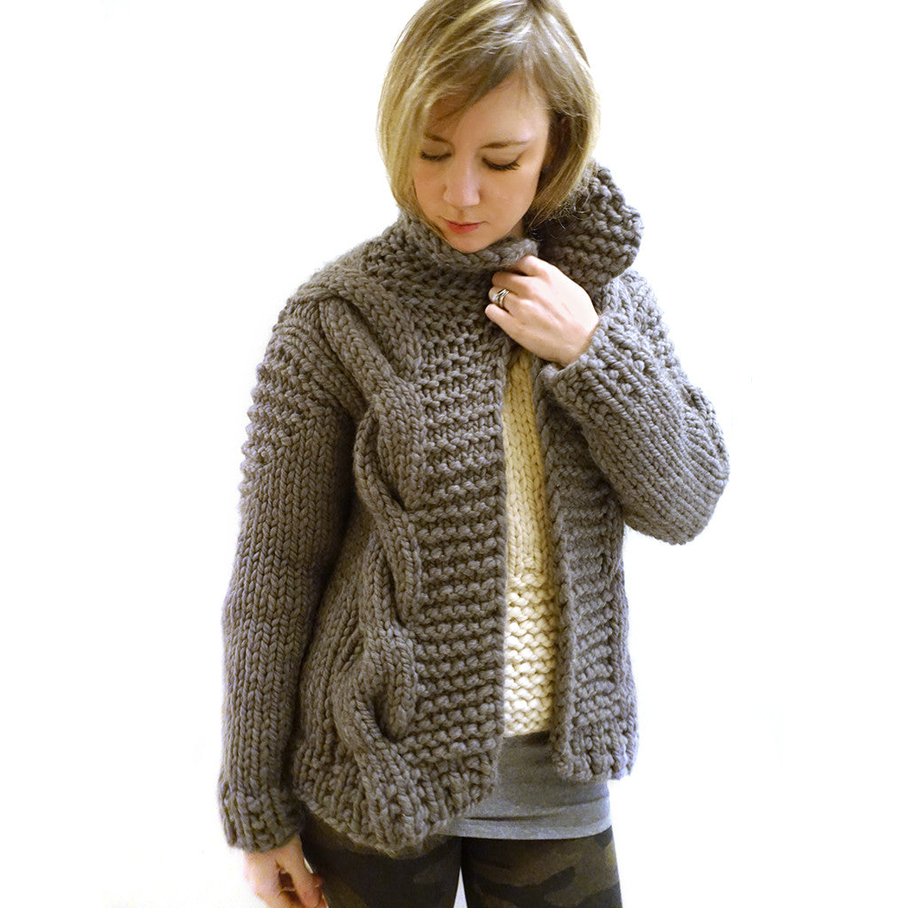 Little Bomber Cardi {PDF pattern & knit kit}-knit kit-The Crafty Jackalope