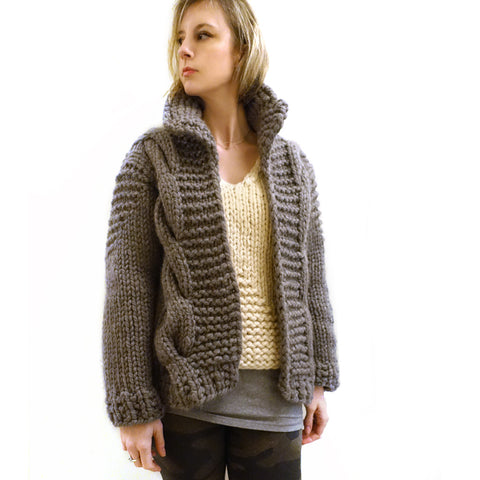 Little Bomber Cardi {PDF pattern & knit kit}