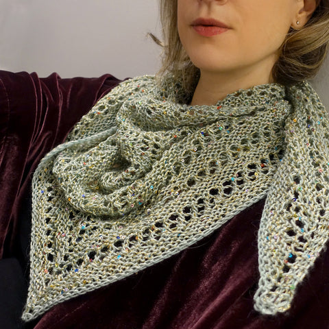 magpie darling shawl {knitting pattern}