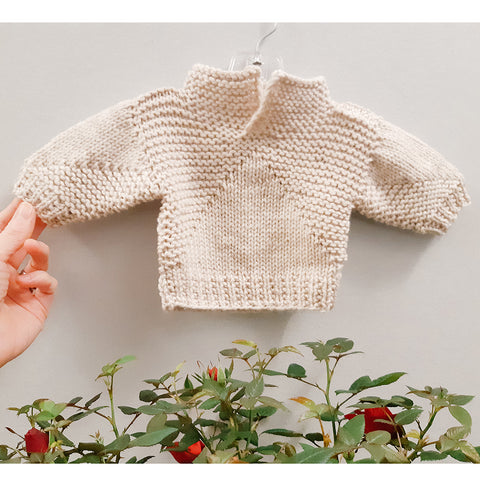 mini pilot pullover {knitting pattern}