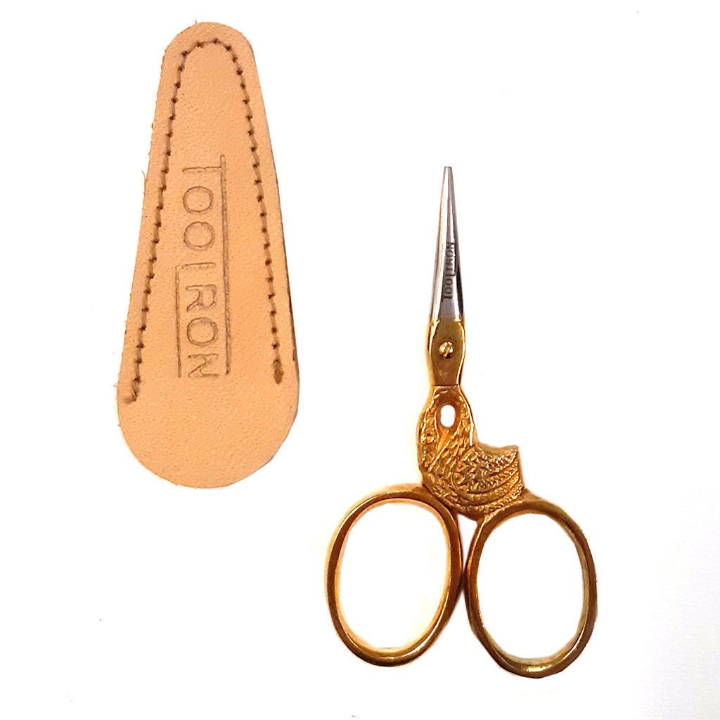 mini stork scissors - gold