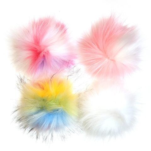 pom poms: snap on