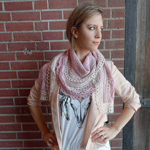royal flounce shawl {knit pattern}-knitting pattern-The Crafty Jackalope