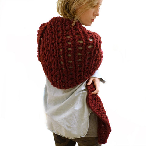 rusted shawl {PDF pattern & knit kit}