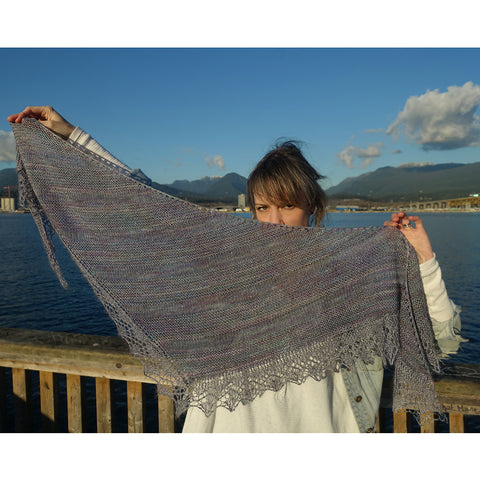 Birthday Wishes Shawl {knitting pattern}