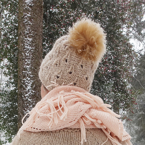 in the snow slouchy {knitting pattern}