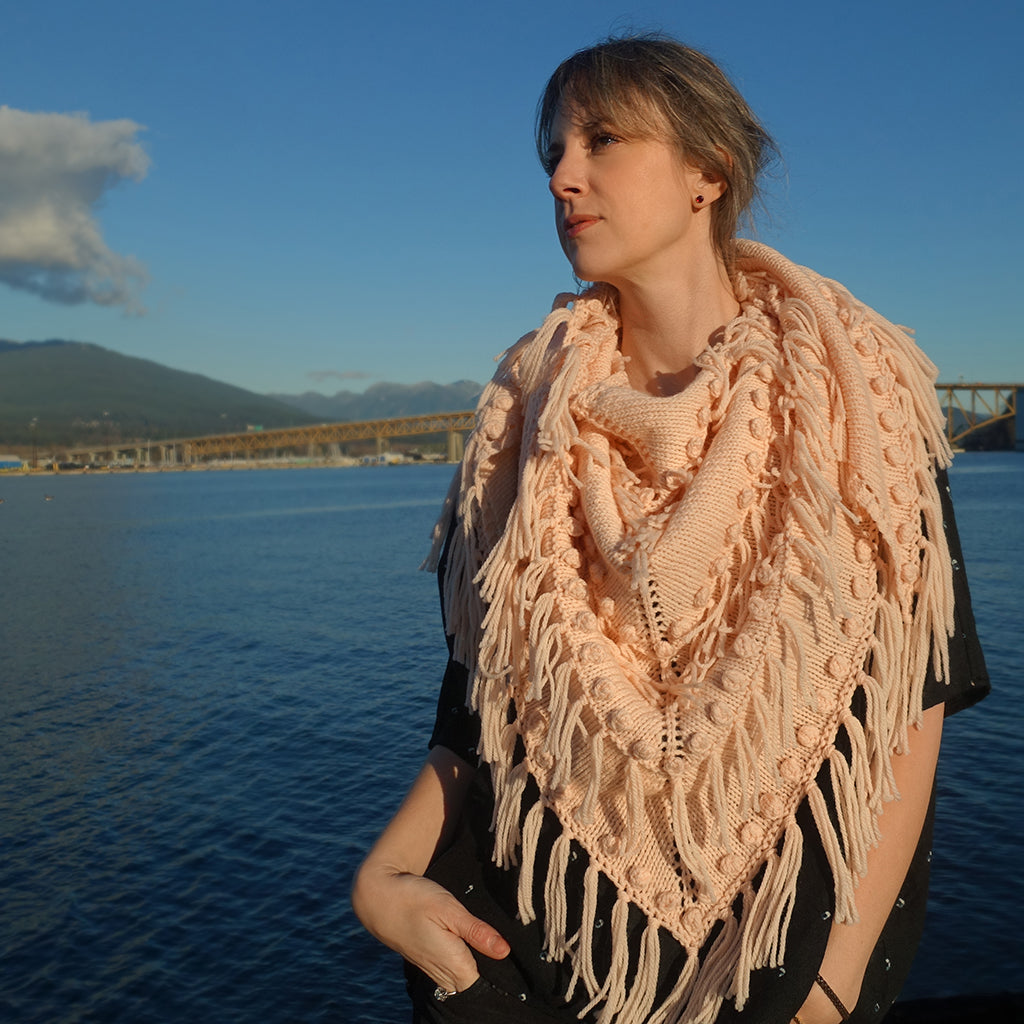 Peaches Shawl {knitting pattern}