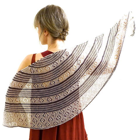 Summer Sparrow Shawl {knitting pattern}