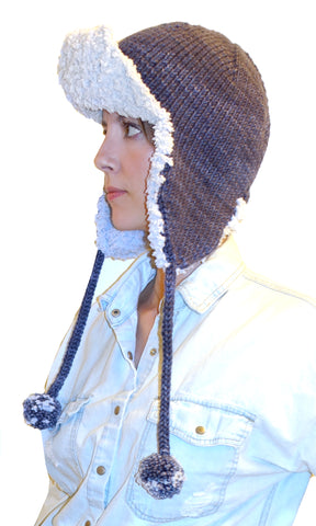 top down trapper hat {knitting pattern}