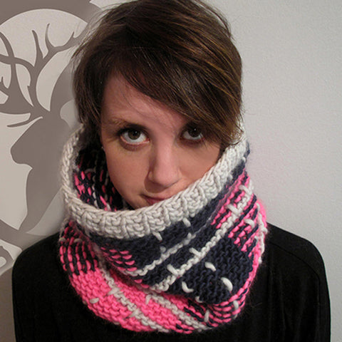 brave cowl {knitting pattern}-knitting pattern-The Crafty Jackalope