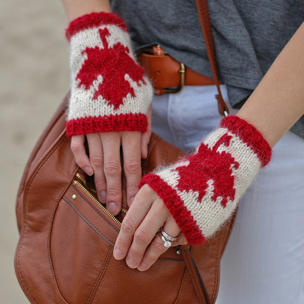 Fingerless gloves canada - Canadian Fingerless Gloves Knitting Pattern The Crafty Jackalope 2