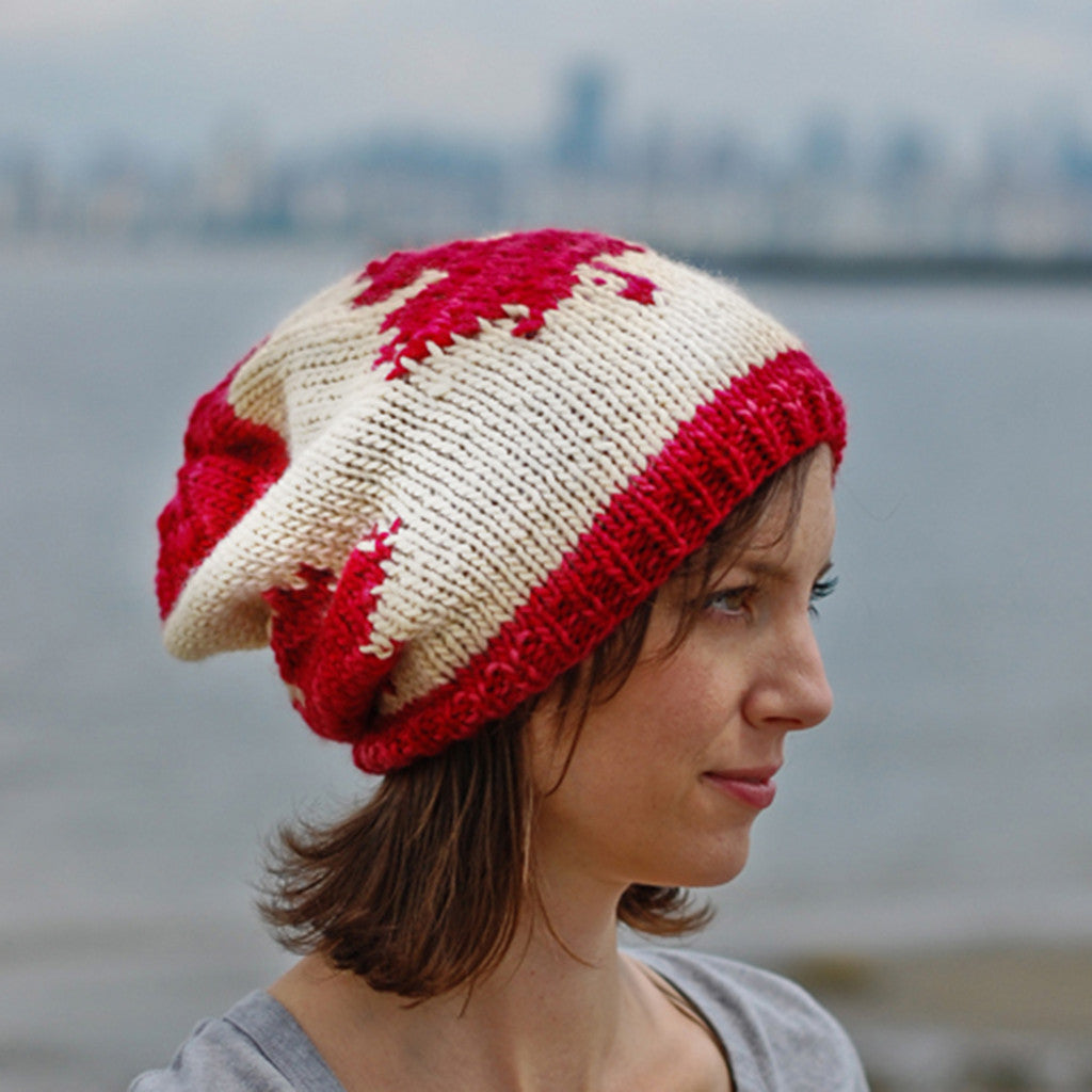 the canadian slouchy {knitting pattern}-The Crafty Jackalope
