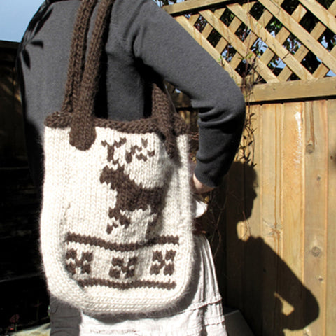 canadian tote {knitting pattern}