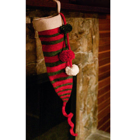 dr. seuss inspired christmas stocking {knitting/felting pattern}