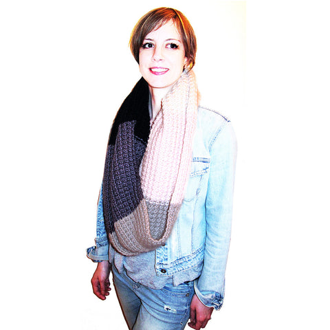 ice cream cowl {knit pattern}-knitting pattern-The Crafty Jackalope