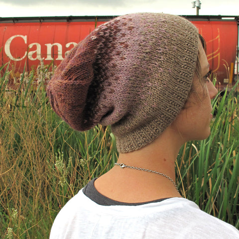 ombré slouchy hat {knitting pattern}-knitting pattern-The Crafty Jackalope