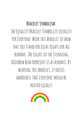 Equality Bracelet - Limited Edition