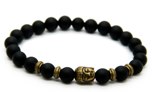 Matte Black & Bronze Buddha Bracelet *1 DAY SALE*