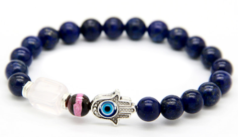 Blue Beads Fatima Hand & Hamsa Bracelet *1 Day Sale*