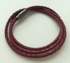 Premium Red Triple Wrap Leather Bracelet