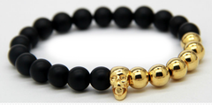 Matte Black & Gold Plated Skull