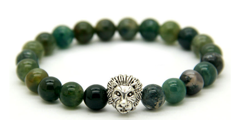 Natural Aquatic Agate Lion Bracelet  *1 Day Sale!*