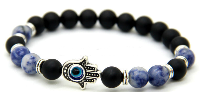 Autumn Night Sky Hamsa Hand Bracelet  *1 Day Sale!*