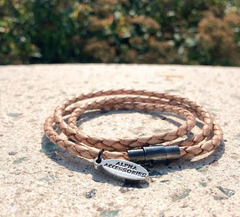 Premium Soft Tan Triple Wrap Bracelet