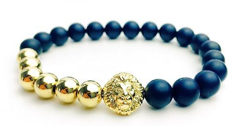 Black & Gold Alpha Lion Bracelet