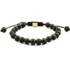 Matte Black Lava October Bracelet