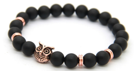 Rose Gold Alpha Owl Bracelet